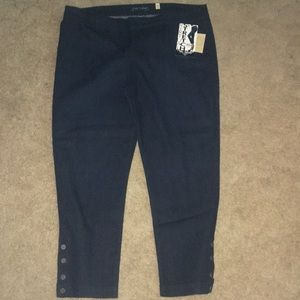 Women's Fade To Blue Ankle Cropped Jeans sz 3x